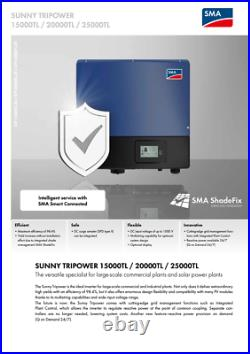 SMA Sunny Tripower STP25000TL-30 Inverter (400Volts 50Hz 3Phase)