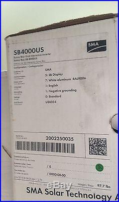 SMA SunnyBoy 4000w Solar Grid-tie Inverter sb4000US (NEW)