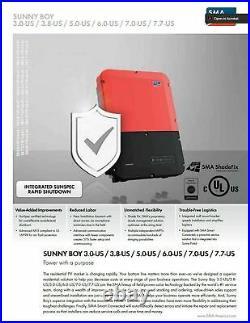 SMA SunnyBoy 7000w Solar Grid Tie Inverter SB7.0-1SP-US-40