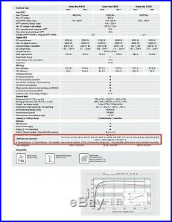 Sma, Sb 3.0-us, Non-isolated String Inverter, 3000w, 208/24