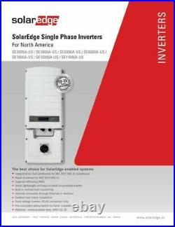 Solar Edge SE3000A-US000NNR2 3000W Grid Tie Inverter, 240V