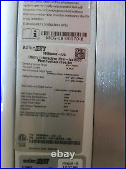 Solar Edge Se5000a Grid Tie Inverter