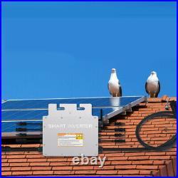 Solar Grid Tie Micro Inverter 1400W MPPT Pure Sine Wave DC to AC 110V Waterproof