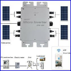 Solar Grid Tie Micro Inverter 300/600/1200W MPPT Pure Sine Wave 220V Waterproof
