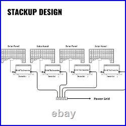 Solar Grid Tie Micro Inverter DC 22-50V to AC 110V 1200w Reverse Simplify GREAT