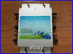 Solar Grid Tie Micro inverter 1200W MPPT Pure Sine Wave DC to AC 110V Waterproof