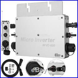Solar Grid Tie Micro inverter 600W MPPT Pure Sine Wave DC to AC 110V Waterproof