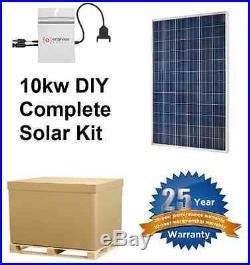 Solar Panel Kit with micro inverter grid tie, 10000W 10kw