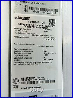 SolarEdge 10kW Single Phase Grid-Support Inverter (SE10000A) withShutdown Switch