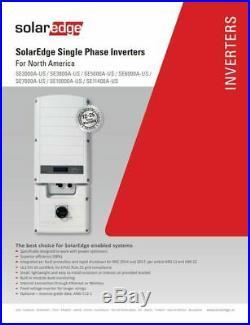 SolarEdge SE 7600A US Grid Tie Inverter 7600 Watt 240V