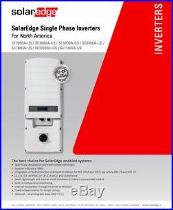 SolarEdge SE10000A-US 10Kw 240v Grid-tie Solar Inverter Rapid Shutdown