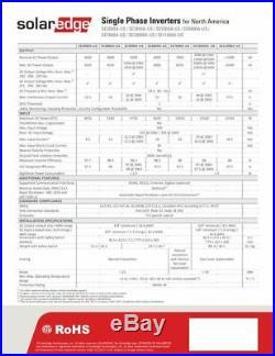 SolarEdge SE10000A-USR00NNU2, 10000W Grid Tie Inverter, 240V