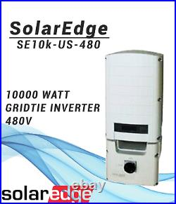 SolarEdge SE10k-US-480, commercial 10kw Gridtie Inverter 480v
