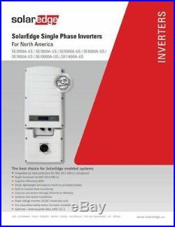 SolarEdge SE11400-US-U, 11400w Grid Tie Inverter, 240V