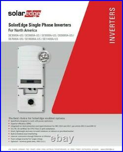 SolarEdge SE11400A-USR00NNC2, 11400W Grid Tie Inverter, 240withRGM