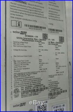 SolarEdge SE3800A-US 3.8Kw 240v Grid-tie Solar Inverter Rapid Shutdown