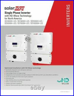 SolarEdge SE6000H-US000NNC2, 6000W Grid Tie Inverter, 240V