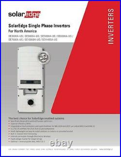 SolarEdge Single Phase Inverter 6 KW -SE6000A-US000NNC2 Gridtie inverter -240V