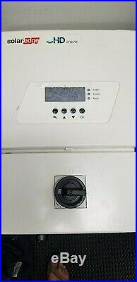 Solaredge SE6000H-US HD Wave Grid Tie Inverter With 12 Power Optimizers P320