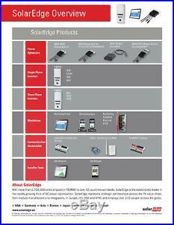Solaredge Se11400a-us Grid Tie Inverter 11400w 240 Vac, New In Factory Box