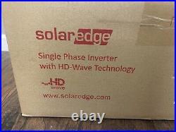 Solaredge Se3800h-us Hd Wave Grid Tie Inverter 3800w 240 Vac