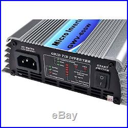Solarepic Micro Grid Tie Inverter 600W Stackable with MPPT 22-60V DC Input 110V Ou