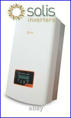 Solis 3.6Kw Solar Inverter Latest 4G Model DuaI Tracker. Built-In DC Switch