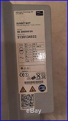 Sunny Boy SMA Grid Tie solar inverter SB 2000HF-30