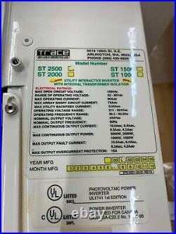 Trace engineering Suntie XR ST2500 photovoltaic power grid tie inverter 2500W
