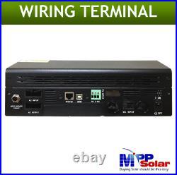 USA Support. Hybrid PIP LV2424 2400W 24V 120V/240V Inverter Split Phase(2 rqd)