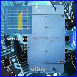 VEVOR 1200W Solar Grid Tie Micro Inverter, Solar Micro Inverter, IP65 Waterproof