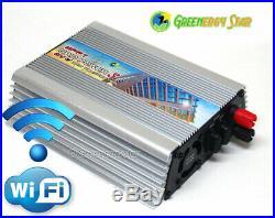 WiFi 600 WATTS 10.5 V-28 V DC MPPT GRID TIE INVERTER 110V AC 60 HZ