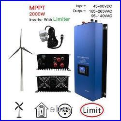 Wind Power Grid Tie Inverter LCD Screen 230V Wave Limiter Sensor Generator Tool